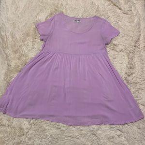 American Apparel Lavender Babydoll T-Shirt Dress